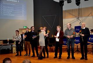Vinnare av division 1 - Åsenhöga Brass Band