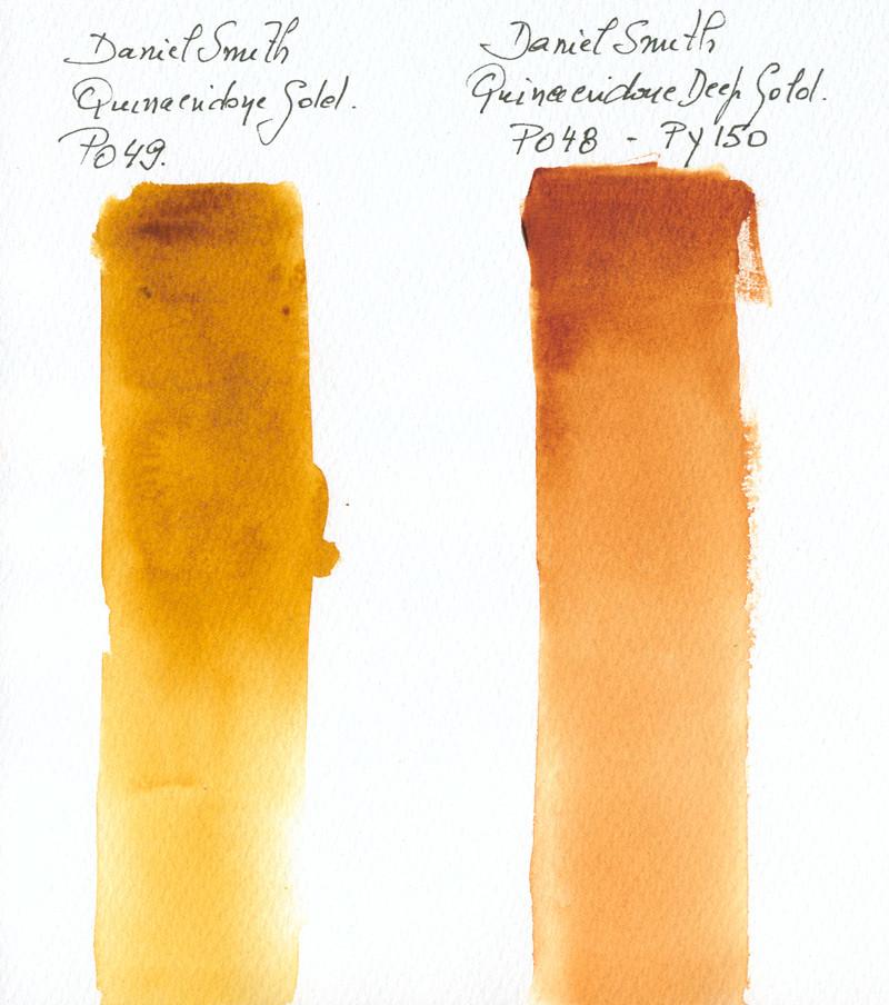 Daniel Smith Quinacridone Gold Old / New Comparison