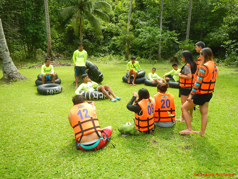 River tubing briefing