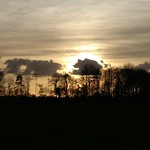 17. November 2017 - 16:01 - 4426: An afternoon walk through the village with beautiful skies.
