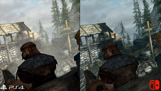 Skyrim - PS4 vs Switch Resolution