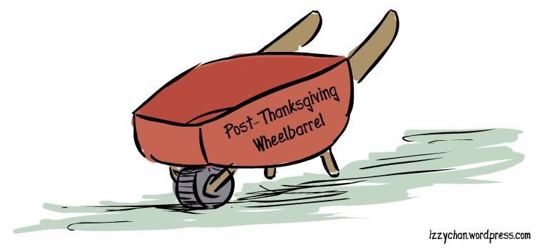 red wheelbarrel