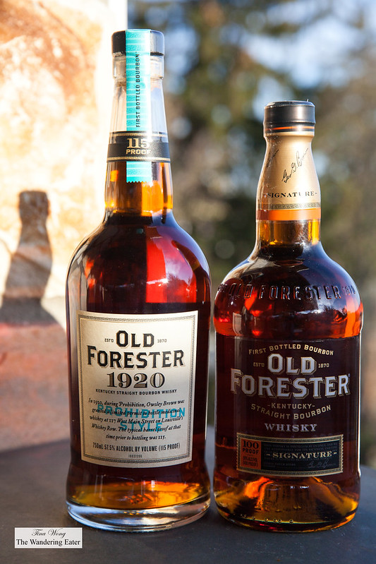 Old Forester 1920 and 100 Proof Bourbon Whisky