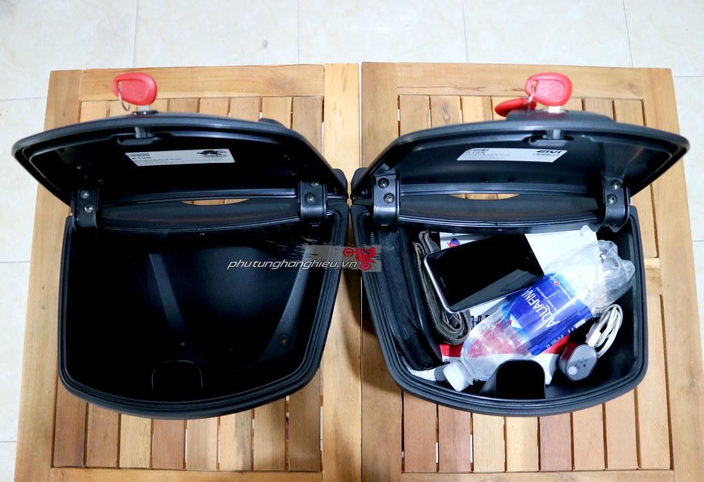 Phụ tùng hàng hiệu, phutunghanghieu.vn, thùng Givi, thùng chở đồ, thùng giữa Givi, thùng giữa cho xe máy, thùng giữa cho Exciter, thùng giữa cho Winner, gắn thùng giữa cho xe máy, thùng giữa Givi K10N, thùng giữa Givi G10N