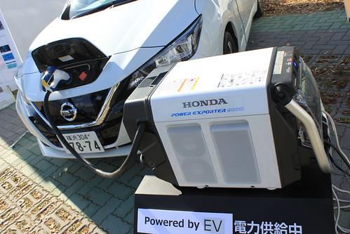 日産リーフとホンダ「Power Exporter 9000」