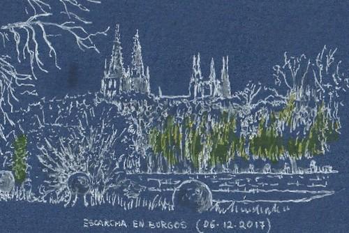 Escarcha en Burgos