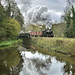 4277 reflected in the canal at Consall.