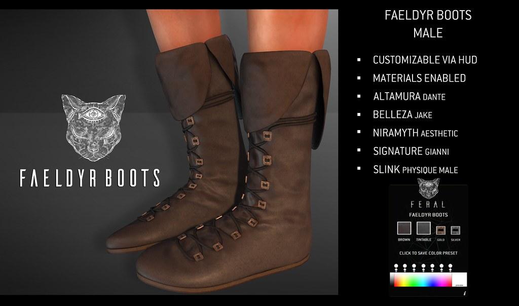 Feral - Faeldyr Boots Male - TeleportHub.com Live!