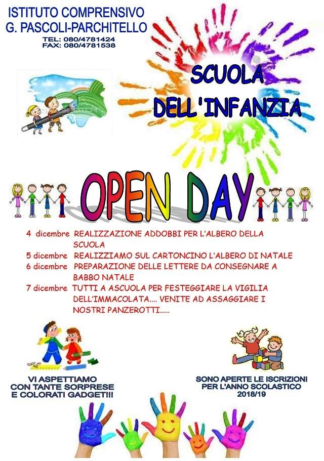 Noicattaro. Open Day Parchitello infanzia intero