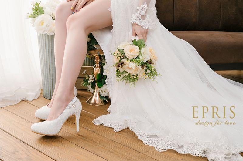 白色婚鞋跟鞋,高跟鞋,女涼鞋,平價女鞋,台灣女鞋品牌,女鞋,高跟鞋艾佩絲EPRIS婚鞋