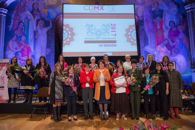 Mujeres destacas reciben la Medalla Omecíhuatl 2017