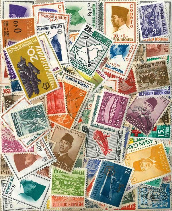 Známky Indonézia balíček 100 ks rôznych