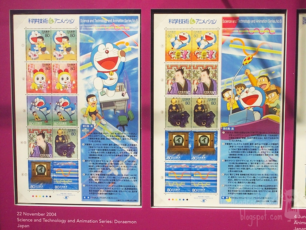 anime, astro boy, chibi maruko-chan, conan, detective conan, doraemon, museum, naruto, philatelic museum, rantarou, singapore, singapore philatelic museum, stamps, studio ghibli, where to go in singapore, japan, japanese animation, stamps,doraemon