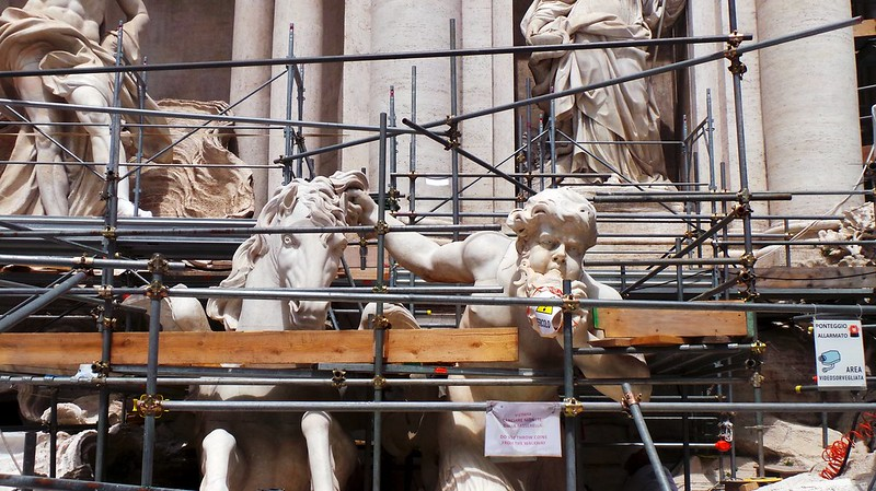Rome - The Trevi Fountain - May 2015 - Renovation Time