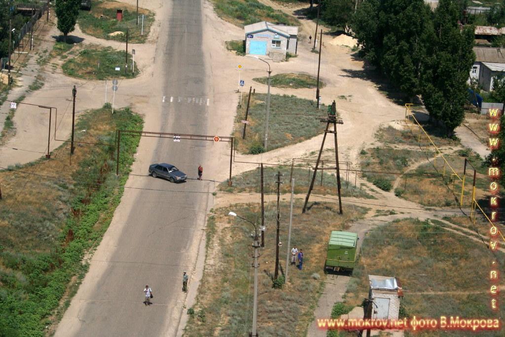 Поселок Ерзовка с высоты птичьего полета. Волгоградской обл,