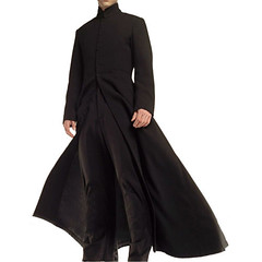Keanu Reeves the Matrix Black Trench Coat