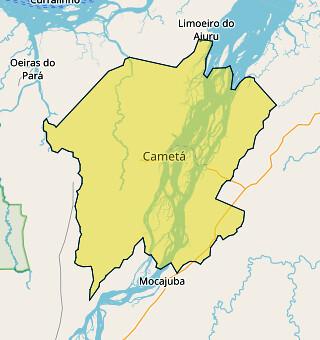 Cametá - área territorial