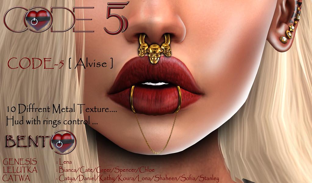 CODE-5 Nose Piercing Alvise - TeleportHub.com Live!
