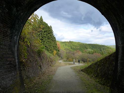 横川~軽井沢間の廃線跡に整備された散策路「アプトの道」
