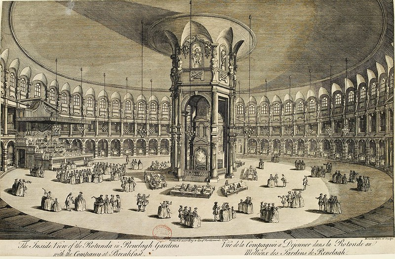 Unknown - The Inside view of the Rotunda in Ranelagh Gardens with the company at breakfast (1751)