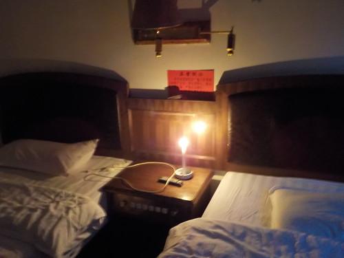 夜に宿が停電