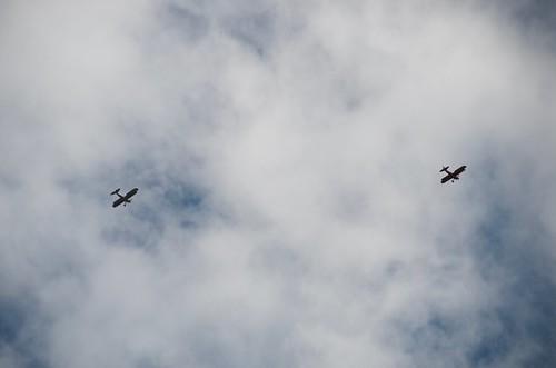 Lost Dutchman biplanes flying overhead