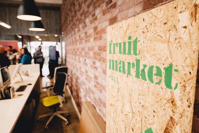 Spray Creative branding in Fruit Market. Photo: © Tom Arran