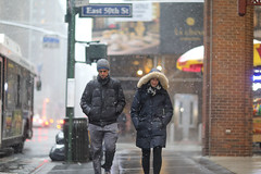 A couple on Lexington Avenue at 50th Street.