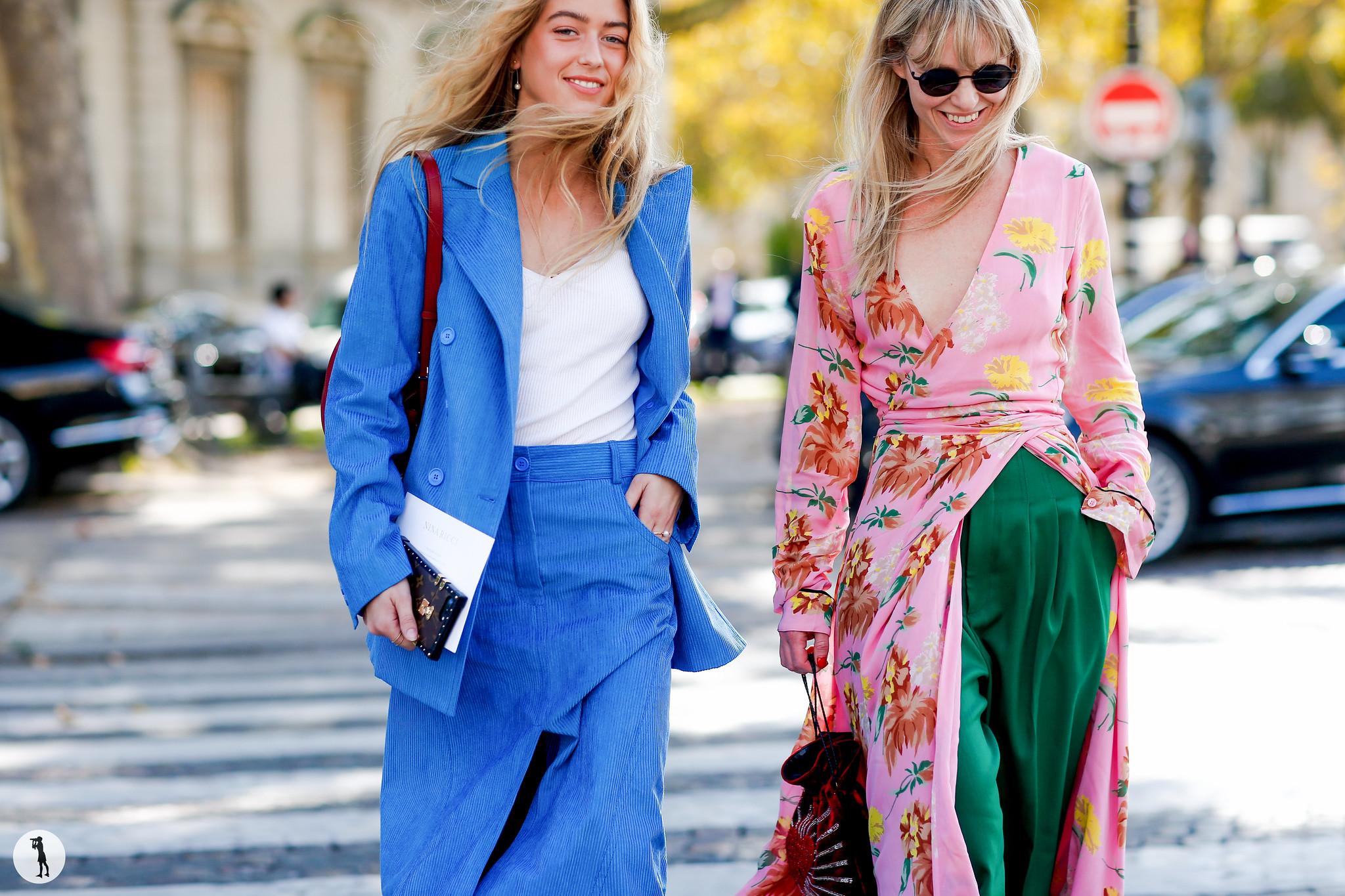 Emili Sindlev and Jeanette Friis Madsen - Paris Fashion Week SS18 (2)