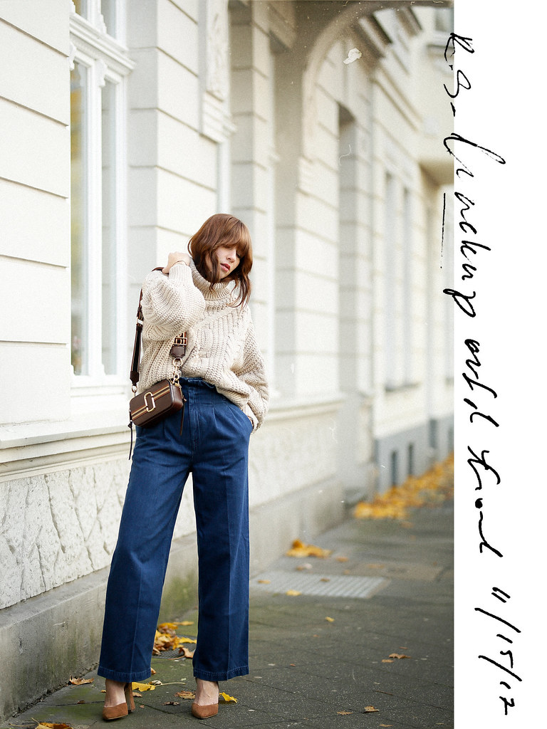 outfit ootd lookbook post seventies siebziger 70s styling marc jacobs snapshot bag suede heels paperbag jeans cable knit styling analog style fashionblogger düsseldorf germany germanblogger max bechmann fotografie film ricarda schernus cats & dogs blog 6
