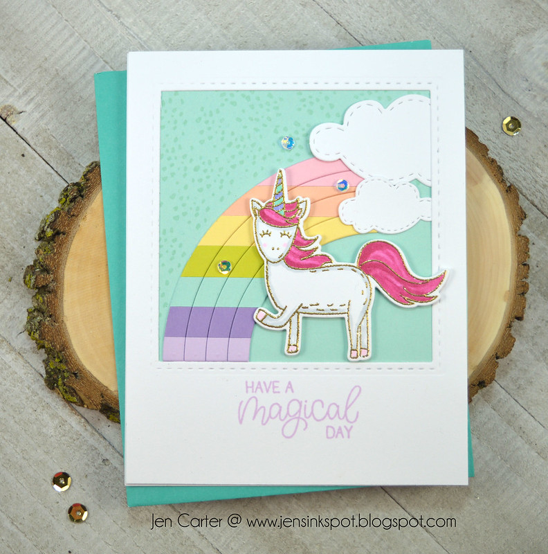 Jen Carter Unstoppable Winter Wishes Unicorn Magical Day wm