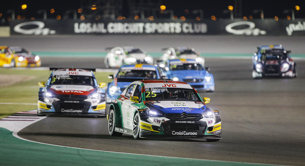 25 BENNANI Mehdi, (mor), Citroen C Elysee team Sébastien Loeb Racing, action during the 2017 FIA WTCC World Touring Car Championship race at Losail  from November 29 to december 01, Qatar - Photo Francois Flamand / DPPI