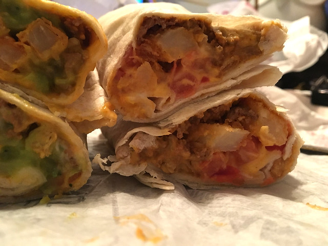 Loaded fries burrito