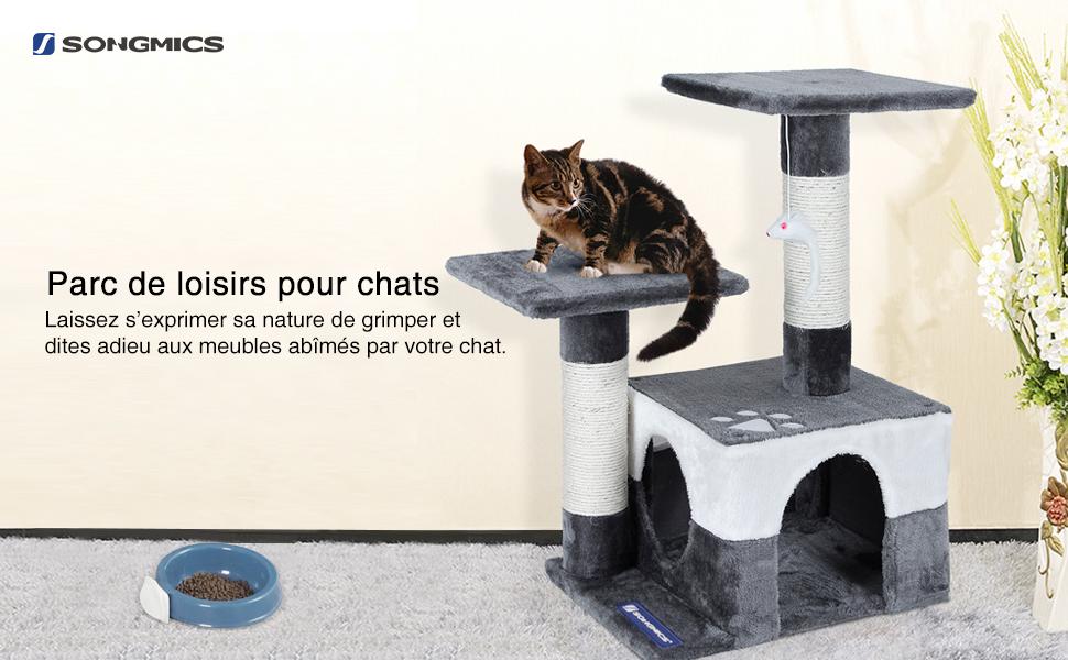 Et ainsi détourne leur attention de vos meubles il convient aussi parfaitement comme endroit pour dormir ou comme cachette confortable le chat