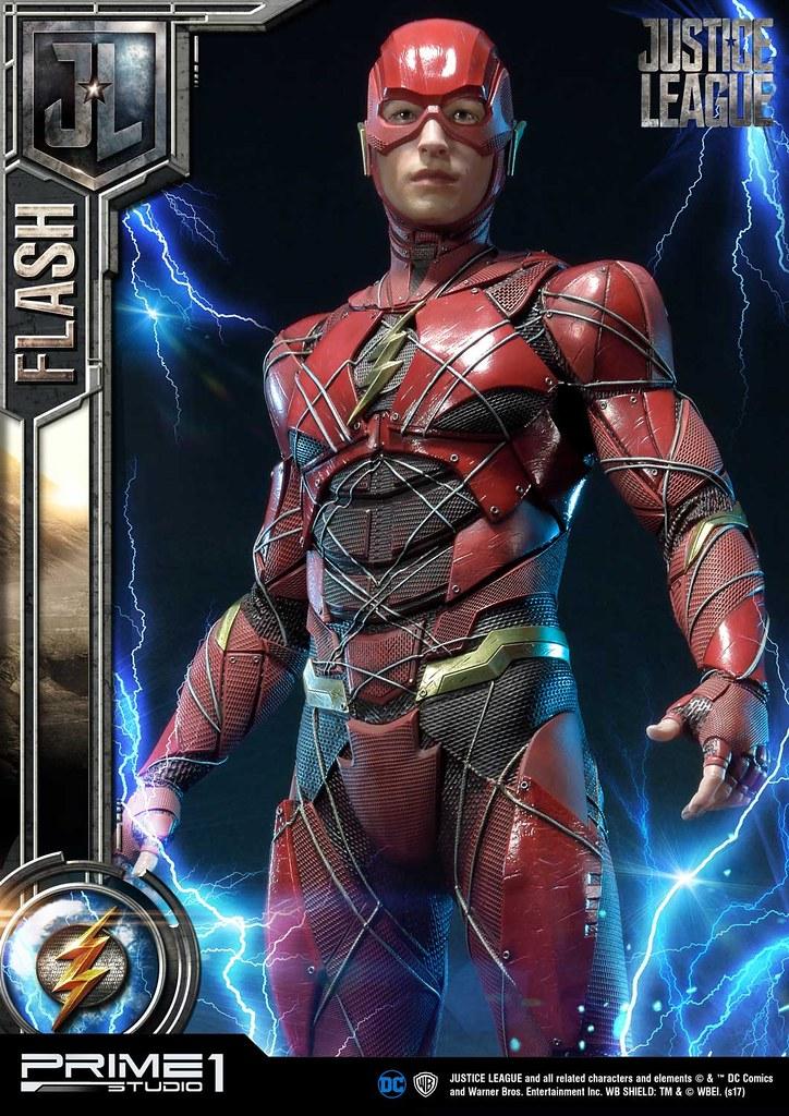 「我只是覺得...一般人都太慢了。」Prime 1 Studio《正義聯盟》閃電俠 The Flash ジャスティス・リーグ フラッシュ MMJL-04EX 1/3 比例全身雕像