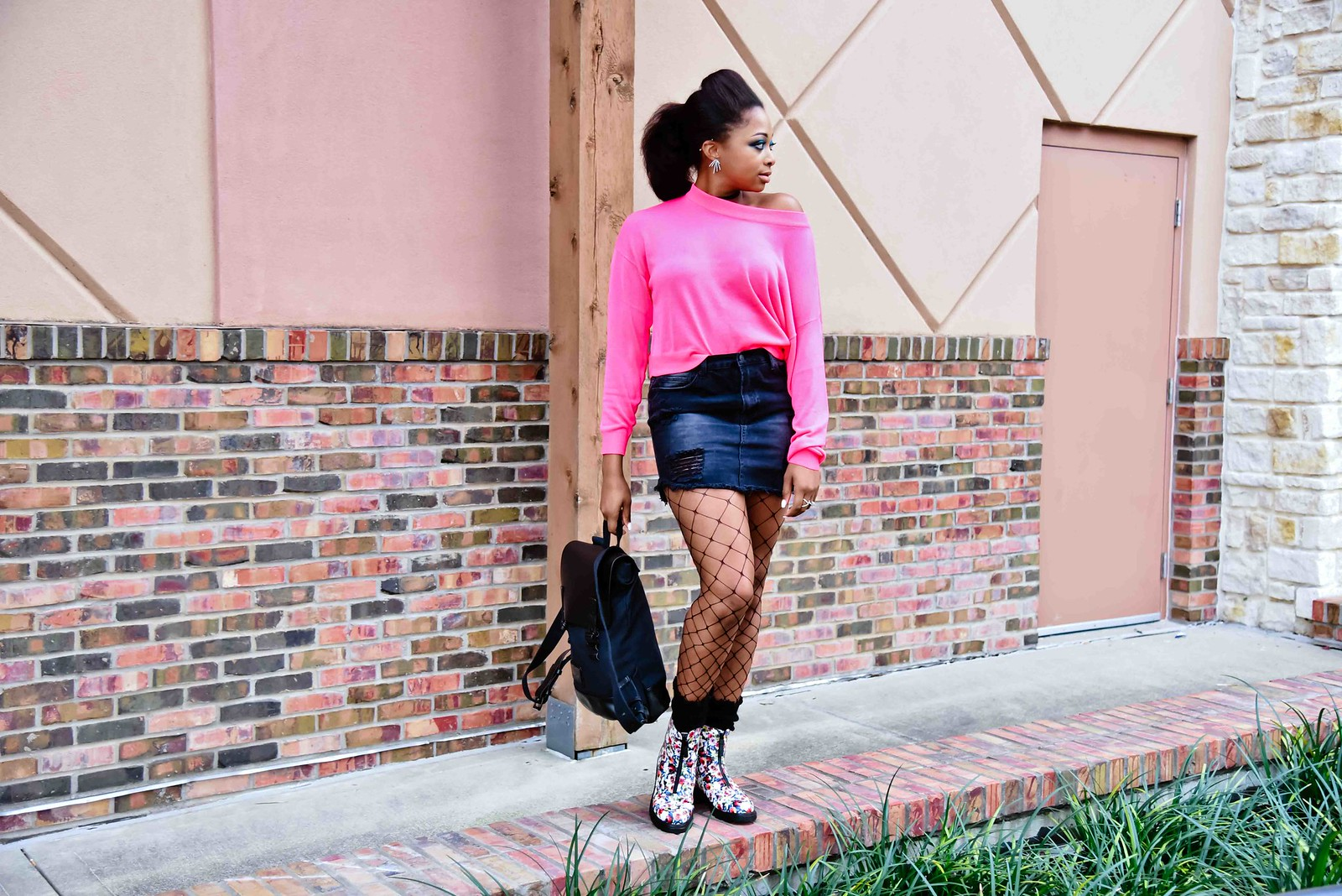 how to style floral print boots