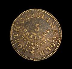 Bechtler gold $5 reverse