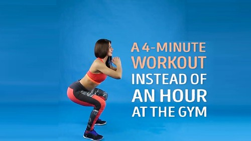 4 Minute Workout at Home For Burn Fat