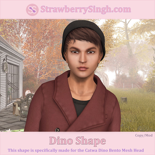 StrawberrySingh.com Dino Shape