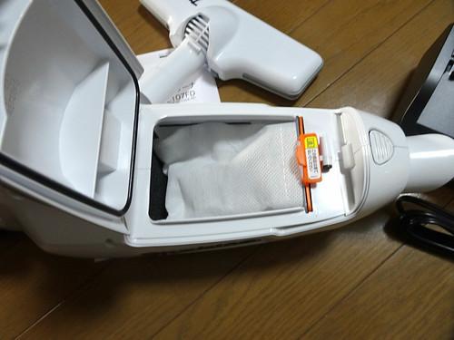 マキタのハンディ掃除機CL107FDSHW充電式