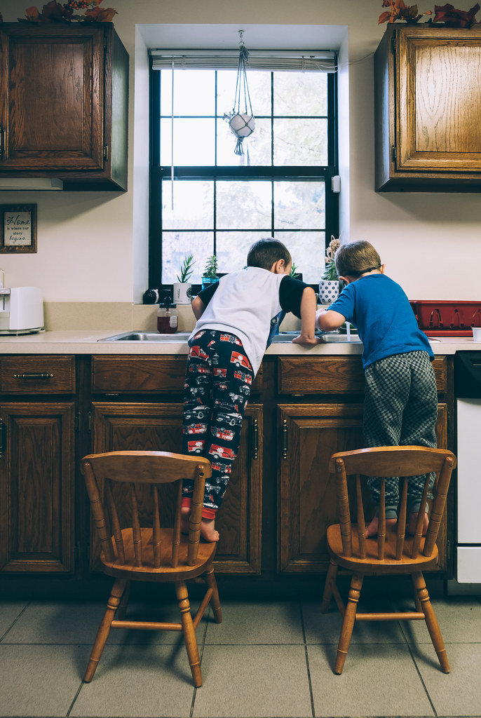 Boys in the kitchen