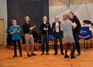 Tubasektionen i Göta Brass Band vann sektionspriset.