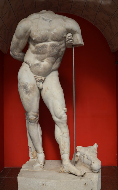 Headless statue of Hercules, Roman period, found in Izmit (ancient Nicomedia), Kocaeli Museum Izmit, Turkey