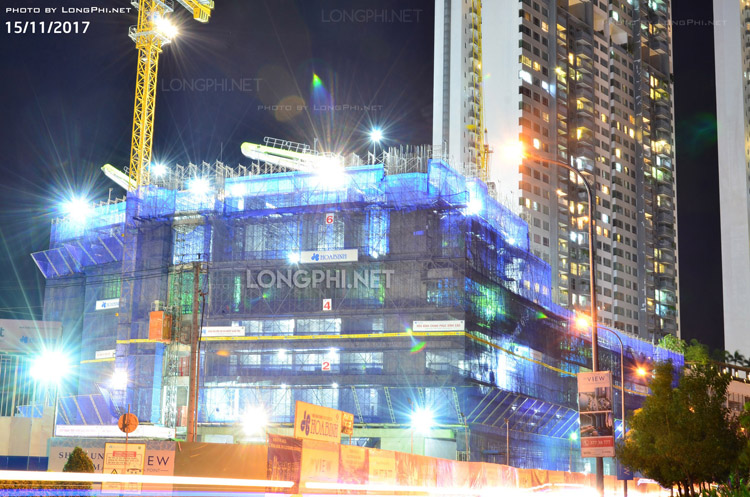 Cập nhật tiến độ thi công dự án căn hộ The View quận 7 ngày 15/11/2017.