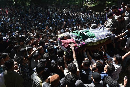 Thousands Attend Funeral of Martyred Youth in Tral
