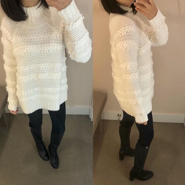 Lou & Grey Snowbird Sweater, size XS regular