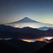 Mt. Fuji over Iridescent Clouds by Yuga Kurita