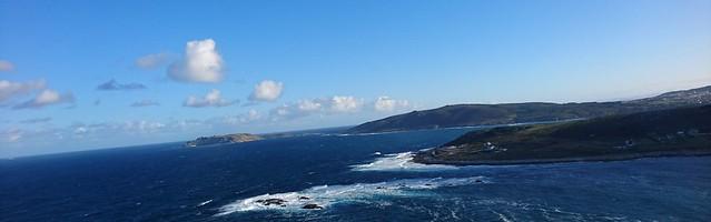 Illas Sisargas, Monte Beo e Punta Cherpa desde Monte Nariga
