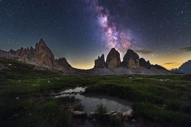 Milky Way above Tre, Nikon D810A, AF-S Zoom-Nikkor 14-24mm f/2.8G ED