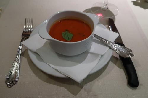 Tomatensuppe als Vorspeise